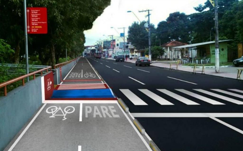 A Avenida Brasil, no bairro Compensa, na zona Oeste de Manaus ganhará uma ciclovia para atender cerca de 96 ciclistas que passam pela via a cada hora.