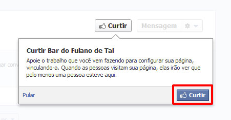 Curtindo a nova Fanpage do Facebook