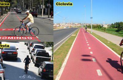A diferença entre : Ciclovia, ciclofaixa e ciclorrota