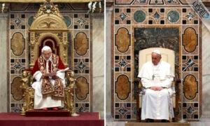 7 diferenças entre o Papa Bento XVI e o Papa Francisco
