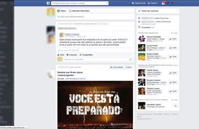 Facebook está de cara nova!