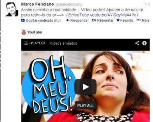 Marco Feliciano faz campanha contra vídeo do 'Porta dos Fundos'