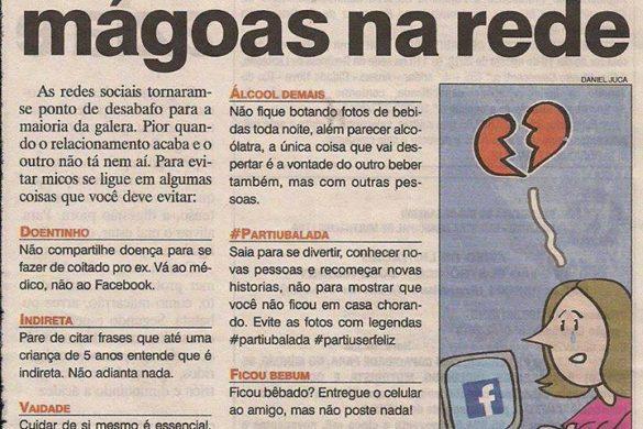 Não chore suas mágoas na rede