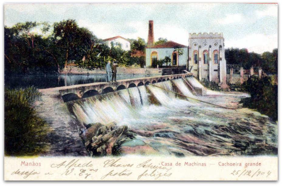 Essa é a imagem da usina hidrelétrica da Cachoeira Grande, uma das primeiras do País.