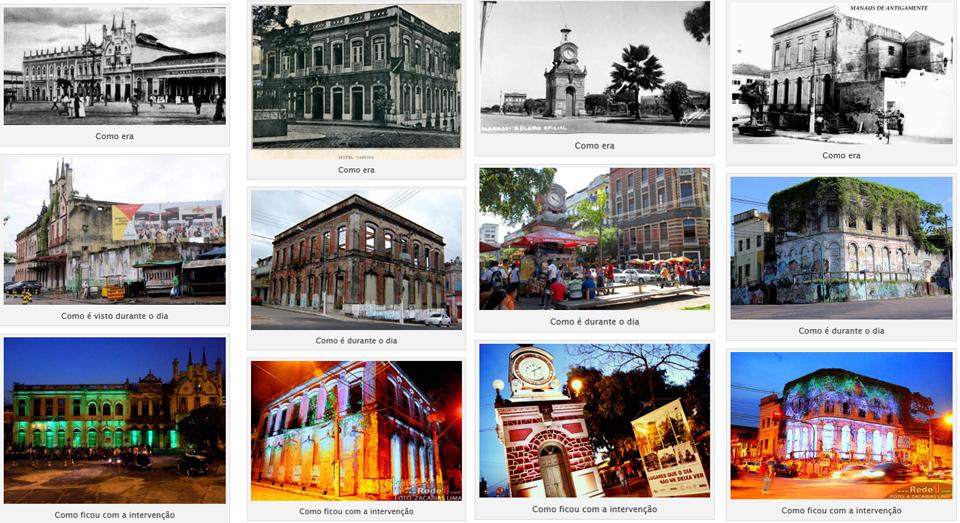 A primeira edição do projeto ocorreu em 4 locais históricos : Relógio Municipal, Fachada abandonada na Avenida Getúlio Vargas com Leonardo Malcher, Complexo da Booth Line e no Cabaret Chinelo/Hotel Cassina.