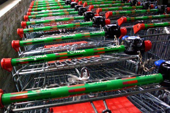 Como evitar que os carrinhos de supermercados fiquem perdidos no estacionamento