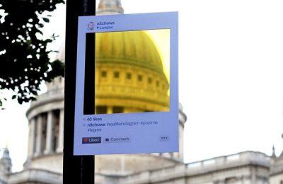 Foto de moldura que imita visual do Instagram, em Londres (Foto: Arquivo pessoal/Bruno Ribeiro)