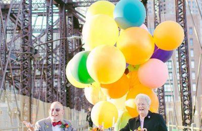 Casal comemora 60 anos inspirados na animação Up