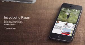Conheça o Paper , o novo aplicativo do Facebook