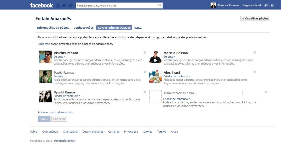 Como adicionar um administrador na fanpage do Facebook