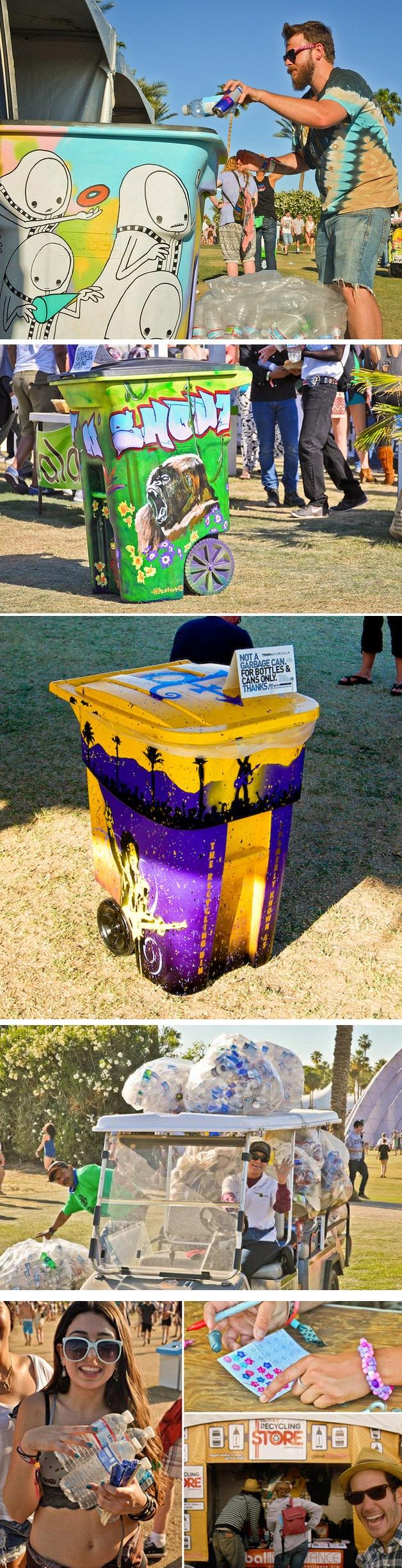 Lixeiras Artisticas do Festival de Coachella (2)