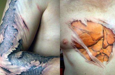 exemplos de tatuagens 3D