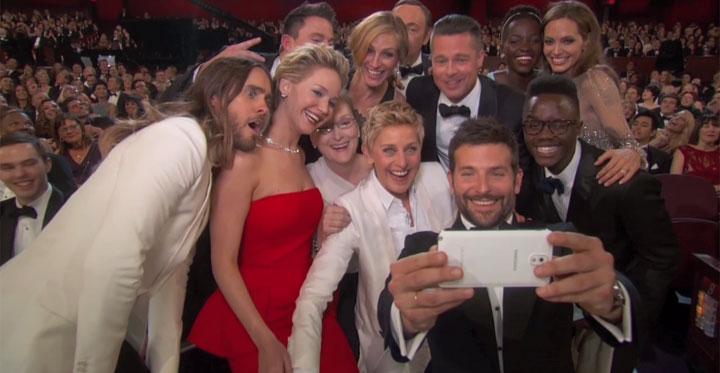 Selfie do Oscar ganha versões na web