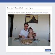 """A rede de Mark Zuckerberg deletou imagem por conter """"conteúdo de nudez"""" – um exagero, ressalte-se."""
