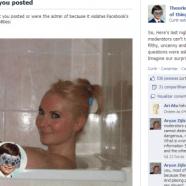 O Facebook confundiu o cotovelo de uma mulher com um seio e excluiu a imagem da rede social.