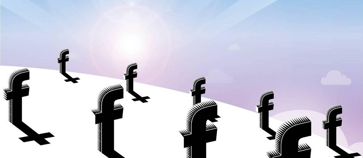 Durante os oito anos de vida do Facebook, quase 30 milhões de seus usuários morreram - Ilustração O GLOBO RIO