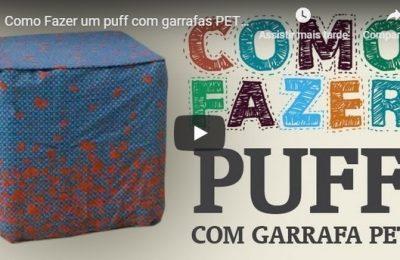 Saiba como fazer um puff utilizando garrafas PET e papelão