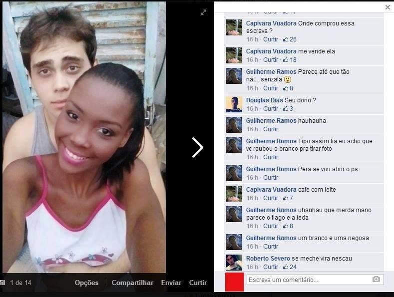 Casal sofreu preconceito no Facebook