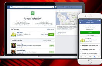 """Facebook cria alerta de desastres """"Safety Check"""""""