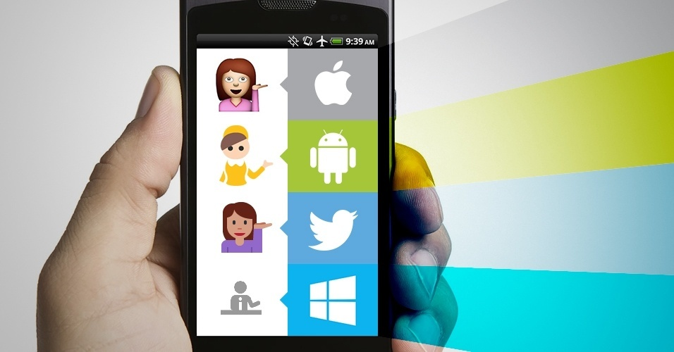 Diferença entre emojis nas principais plataformas