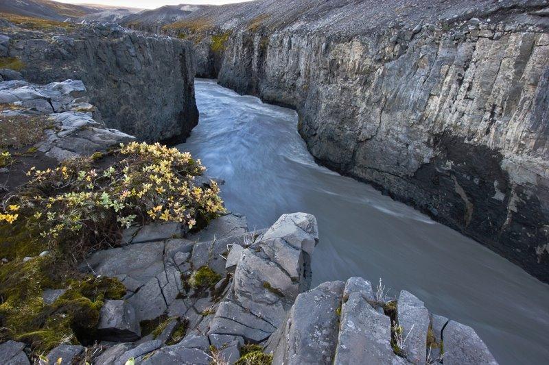 Paisagens de Tirar o Folêgo - Sunken National Park North of Vatnajokull Iceland