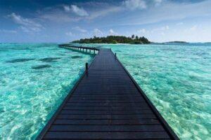 Caminho para o paraíso em Bora Bora