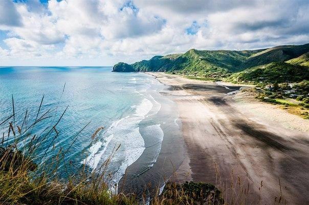 Piha Beach, nova Zelândia