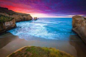 Tunnel Beach, Nova Zelândia
