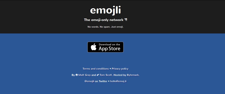 A rede social apenas com emojis