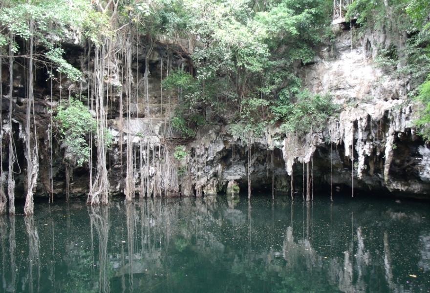 Lindas Paisagens de Cenotes no México