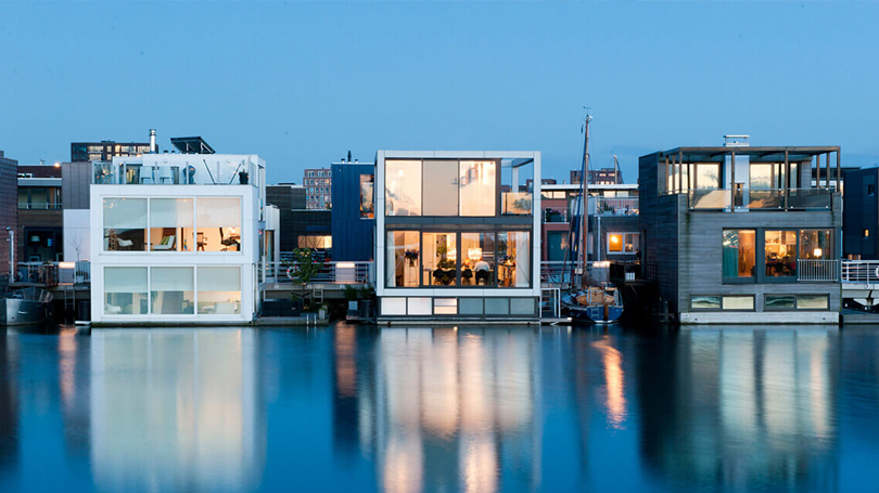 The Floating Houses of IJburg, Amsterdam