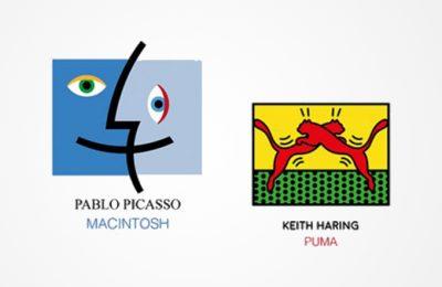Logos redesenhadas por grandes artistas