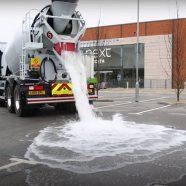 concreto que absorve água