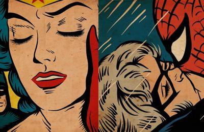 Heróis dos quadrinhos inseridos em obras de Pop Art
