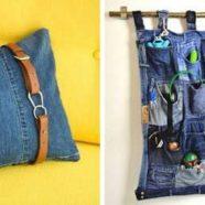 ideias criativas para reutilizar jeans Velhos