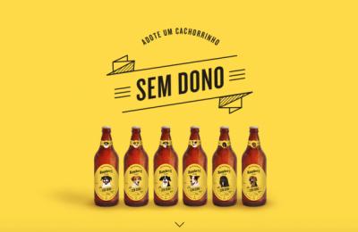 """Cães para adoção são """"garotos-propaganda"""" de cerveja paulistana"""