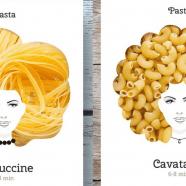 Design de embalagem divertido transforma macarrão em cabelo