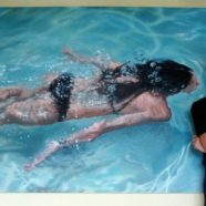 Pinturas incrivelmente realistas de nadadores por Gustavo Silva Nuñez