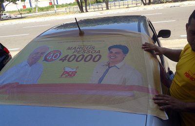 Adesivaço para iniciar a campanha Vereador Marcus Pessoa 40000