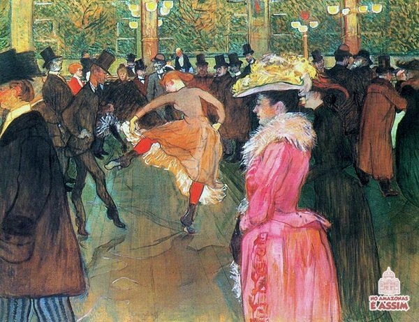 Artista : Henri de Toulouse-Lautrec (1864–1901) Título: At the Moulin Rouge, The Dance Data : 1890