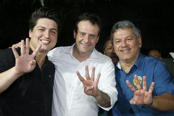 Marcus Pessoa (PSB), Marcelo Serafim (PSB) e Sirlam Cohen (PMN)