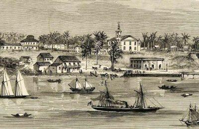 Igreja da Matriz no Largo da Trincheira em Manaus Antiga