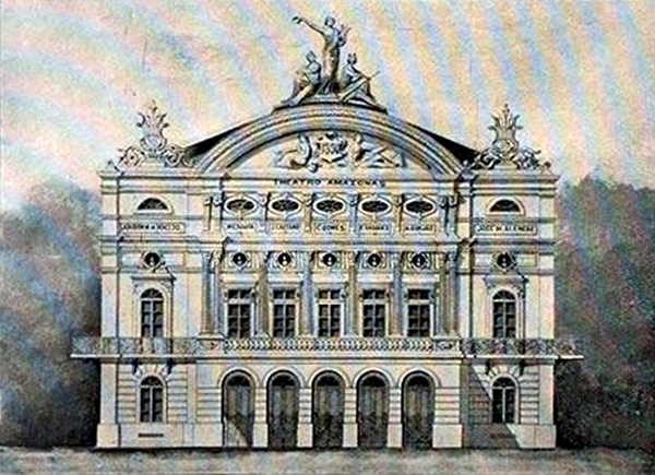 Projeto da Fachado do Teatro Amazonas Álbum : In the city of Manós and the Country of Rubber tree (1893)