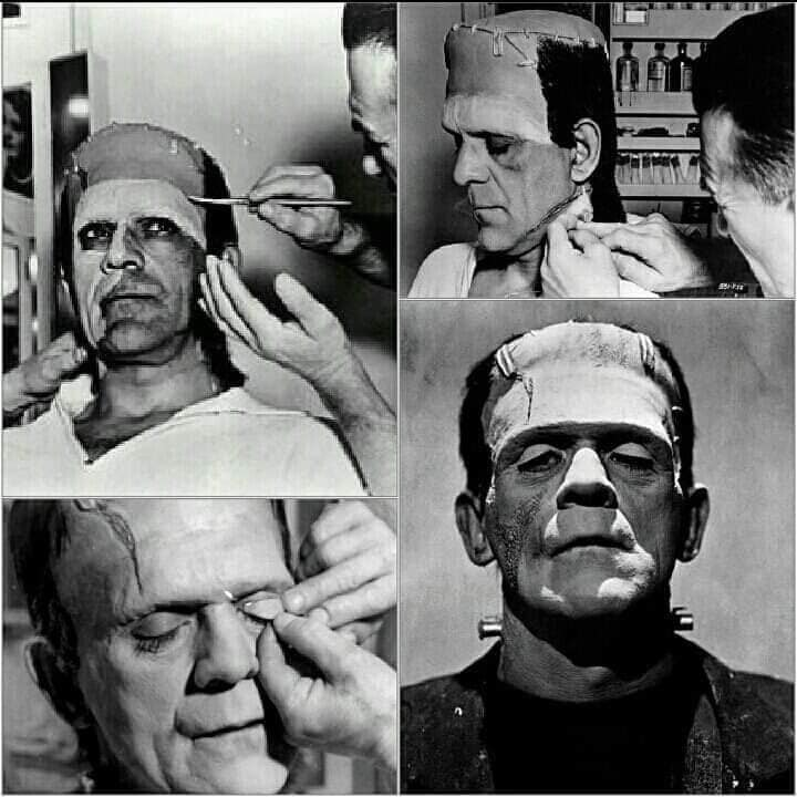 Boris Karloff interpretando o Frankenstein