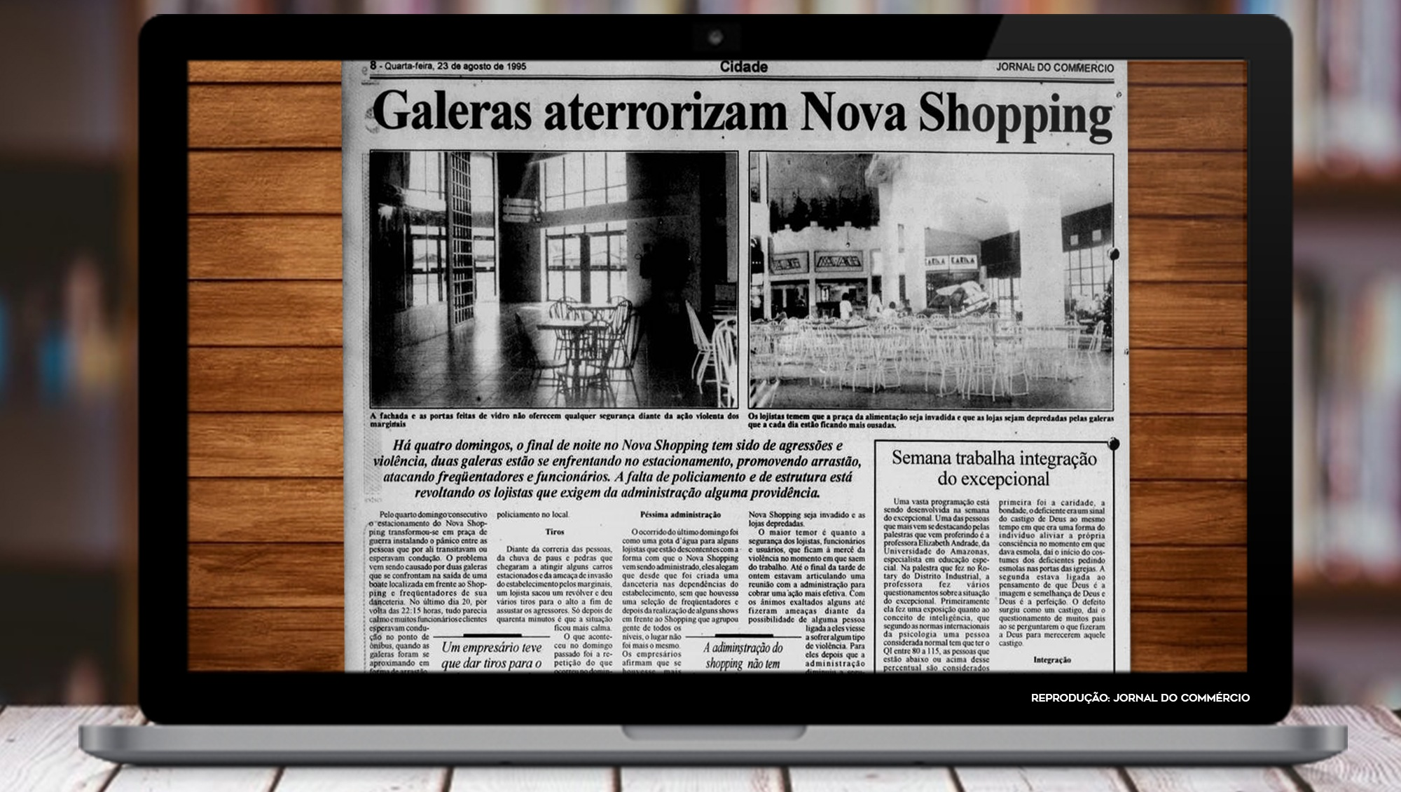 Galeras Aterrorizam Nova Shopping / Reprodução Jornal do Comércio