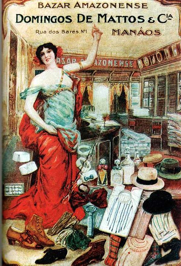 O interior do Bazar Amazonense / Foto : Reprodução A ilusão do fausto – Manaus 1890-1910