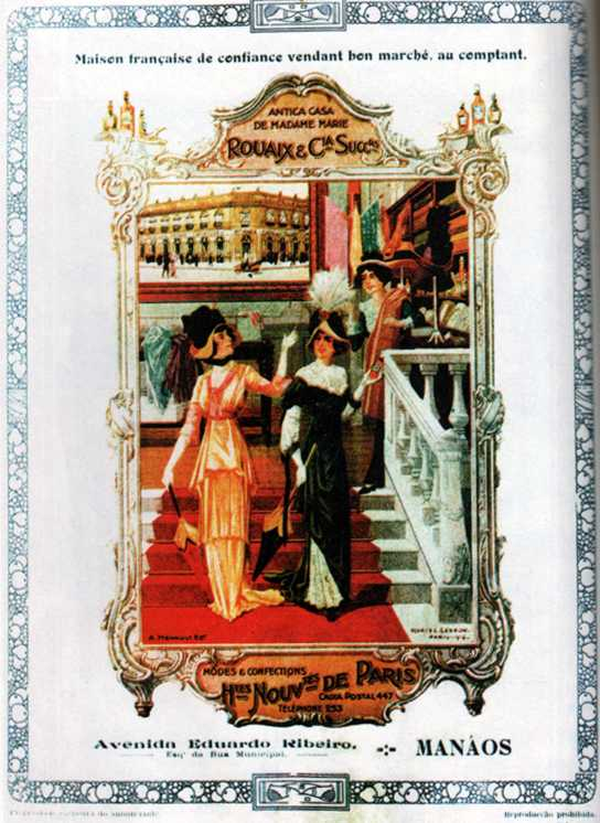 Casa Rouaix & Cia, sucessores da antiga Casa de Madame Marie / Foto : Reprodução A ilusão do fausto – Manaus 1890-1910
