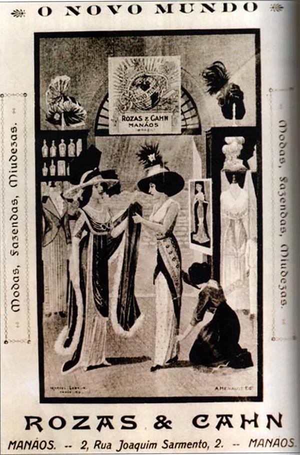 """Loja de modas """"O Novo Mundo"""" / Foto : Reprodução A ilusão do fausto – Manaus 1890-1910"""