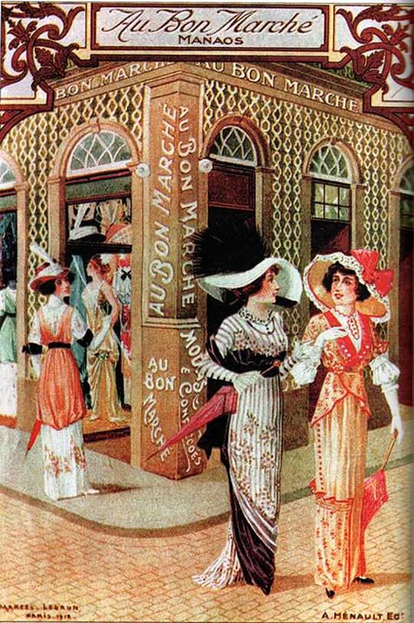 Casa de modas e confecções Au Bon Marché/ Foto : Reprodução A ilusão do fausto – Manaus 1890-1910