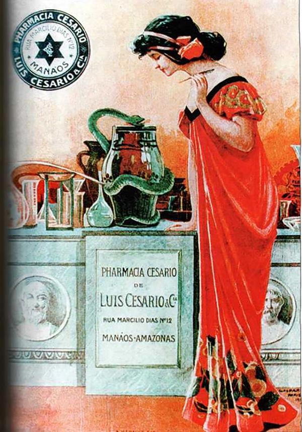 Pharmacia Cesario/ Foto : Reprodução A ilusão do fausto – Manaus 1890-1910
